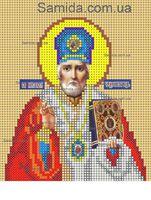 Святой Николай Чудотворец схема для вышивки бисером SAИ 5-15