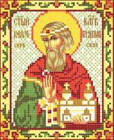 Святой Владислав АР 2042 схема с рисунком на атласе для полного вышивания бисером