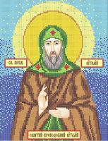 Святой Преподобный Виталий схема для вышивки бисером А4-086