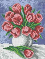 Тюльпаны схема для вышивки бисером на ткани А3-0195