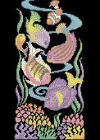 Тропические рыбки А3-0478 cхема для вышивки бисером
