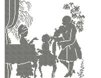 Урок музыки для вышивки бисером на ткани А3-0408