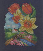 Весна, ЧВ-3179 схема-рисунок (полноцветная) на атласе для вышивания бисером(нитками)