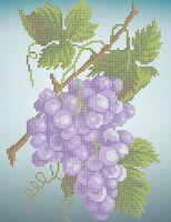 Виноград А4-0436 cхема для вышивки бисером