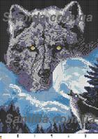 Волк, Волчья Соната Схема Вышивки Бисером SA 3 - 73
