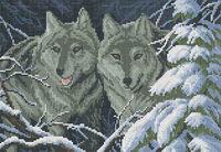 Волки-разбойники, Ж-010 схема-рисунок для вышивки бисером на ткани