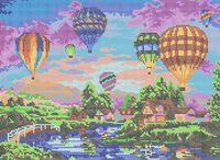Воздушные шары схема для вышивки бисером на ткани ЮМА-3228
