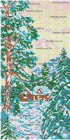 Природа. Зима схема для вышивания бисером на ткани SA 3-60