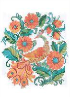 Жар-птица, Д-135 схема-рисунок для вышивания бисером (нитками) на ткани