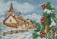 Зимняя пора, DANA-3203 схема-рисунок для вышивки бисером на габардине формат А-3