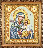 Божия Матерь Неувядаемый Цвет схема с рисунком для полной вышивки бисером АР 1022