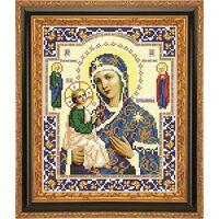 Божия Матерь Иерусалимская схема вышивки бисером  АР 1024