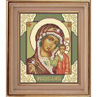 Божия Матерь Казанская схема для вышивки бисером АР 1001
