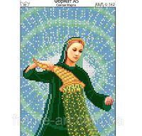 Схема вышивки Святая Марта, И-342 схема с рисунком для полной вышивки бисером на габардине