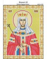 Святая Царица Елена, И-069 схема с рисунком для вышивания бисером на габардине