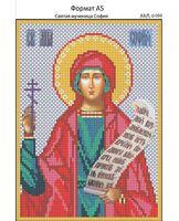 Святая мученица София, И-096 схема с рисунком для вышивания бисером на габардине