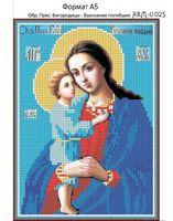 Пресвятая Богородица -Взыскание погибших, И-025 схема с рисунком для полной вышивки бисером на габардине