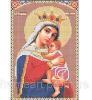 Пресвятая Богородица- Отчаянных единая надежда, И-046  схема для вышивки бисером на габардине