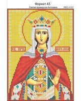 Святая праведная Ангелина, И-057 схема с рисунком для полной вышивки бисером на габардине