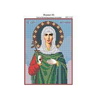 Святая Великомученица Антонина, И-059  схема с рисунком для полной вышивки бисером на габардине