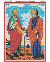 Святые апостолы Петр и Павел,  И-227 схема с рисунком для полной вышивки бисером на габардине