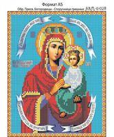 Пресвятая Богородица-Споручница грешных, И-028 схема с рисунком для полной вышивки бисером на габардине