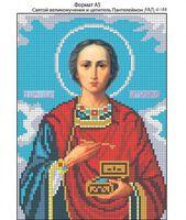 Святой Пантелеймон Целитель и великомученик, И-188 схема с рисунком для полной вышивки бисером на габардине