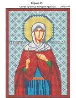 Святая мученица Виктория (Эфесская),  И-106 схема для вышивки бисером на габардине