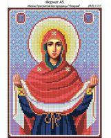 Икона Пресвятой Богородицы Покров,  И-249 схема с рисунком для вышивания бисером на габардине