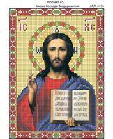 Икона Господа Вседержителя, И-231 схема с рисунком для полной вышивки бисером на габардине