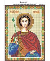 Святой мученик Дмитрий Солунский, И-153 схема с рисунком для вышивания бисером на габардине