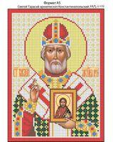 Святой Тарасий Константинопольский, И-199 схема с рисунком для вышивания бисером на габардине