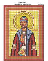 Святой князь Олег Брянский, И-185 схема для вышивки бисером