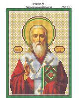 Святой мученик Дионисий, И-152 схема с рисунком для вышивания бисером на габардине