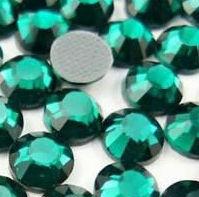 Стразы DMC (Thermal adhesive)изумрудные, прозрачные