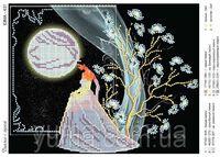 Разговор с луной, ЮМА- 431схема для вышивания бисером на атласе