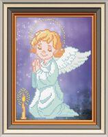 Молитва ангела, СД-082 схема с рисунком для частичной вышивки бисером на атласе