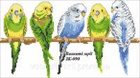 Попугаи, ЗК-090 схема-рисунок на габардине для вышивки бисером формат А-3