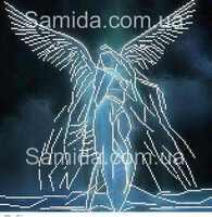 Ангел  А3-4 схема с рисунком для частичной вышивки бисером