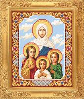 Вера, Надежда, Любовь и их мать София схема для вышивки бисером АР 1020