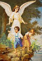 Ангел Хранитель схема для вышивки бисером 3005