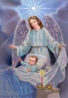 Бисер заготовка вышивать на ткани Ангел Хранитель SA4-61