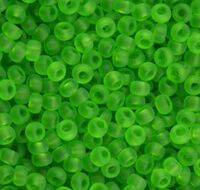 Бисер №50430 matt, №10, Preciosa (Чехия), светло-зелёный, прозрачный