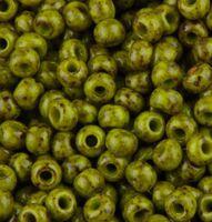 Бисер №59943, №10, Preciosa (Чехия), горчичный травертин, непрозрачный