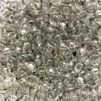Бисер №68108, №10, Preciosa (Чехия), светло-серый с серебренной серединой, прозрачный