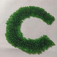 Бисер №50120, №10, Preciosa (Чехия), зелёный, прозрачный