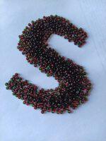 Бисер № 52797, №10, Preciosa (Чехия), красно-зеленый, прозрачный