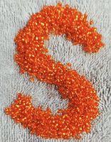 Бисер №97000, №10, Preciosa (Чехия), оранжевый блестящий, прозрачный