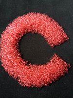 Бисер №01191, №10, Preciosa (Чехия), розово-коралловый, прозрачный