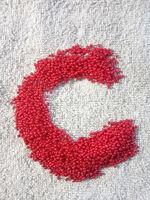 Бисер №93190, №10, Preciosa (Чехия), красный натуральный, непрозрачный
